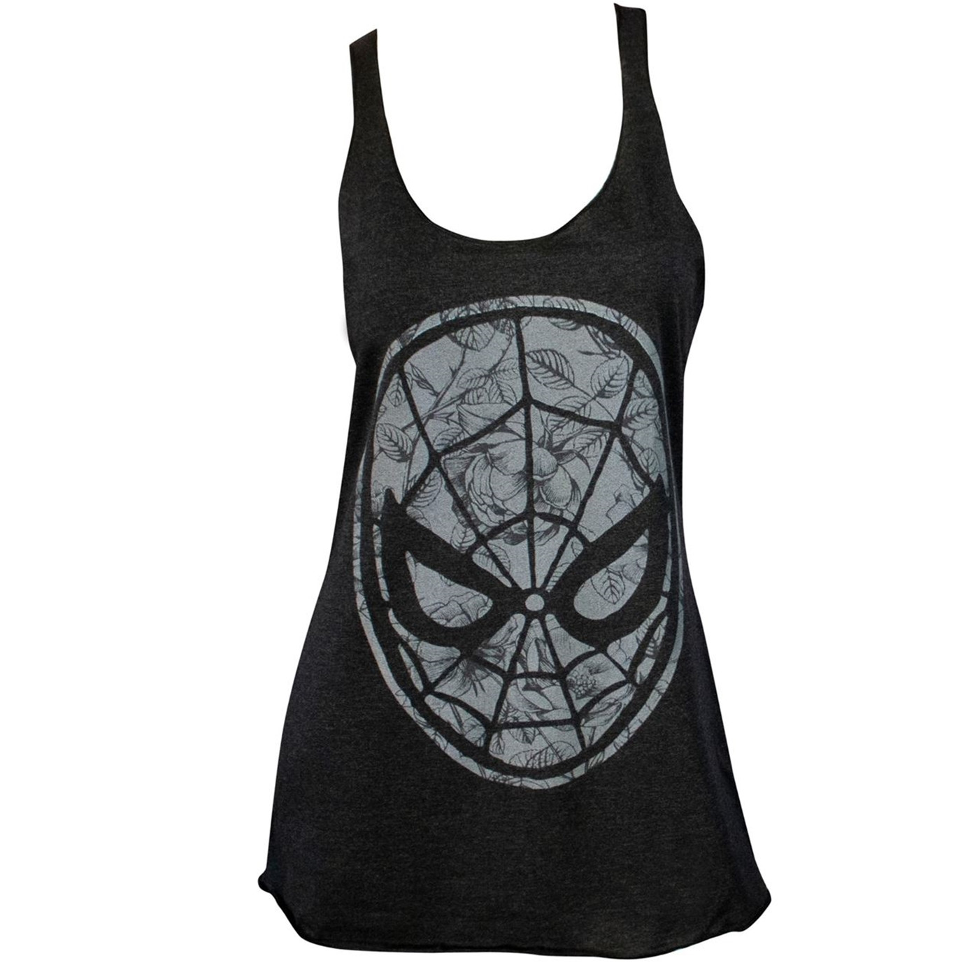Spider-Man Floral Face Logo Women's Tank Top