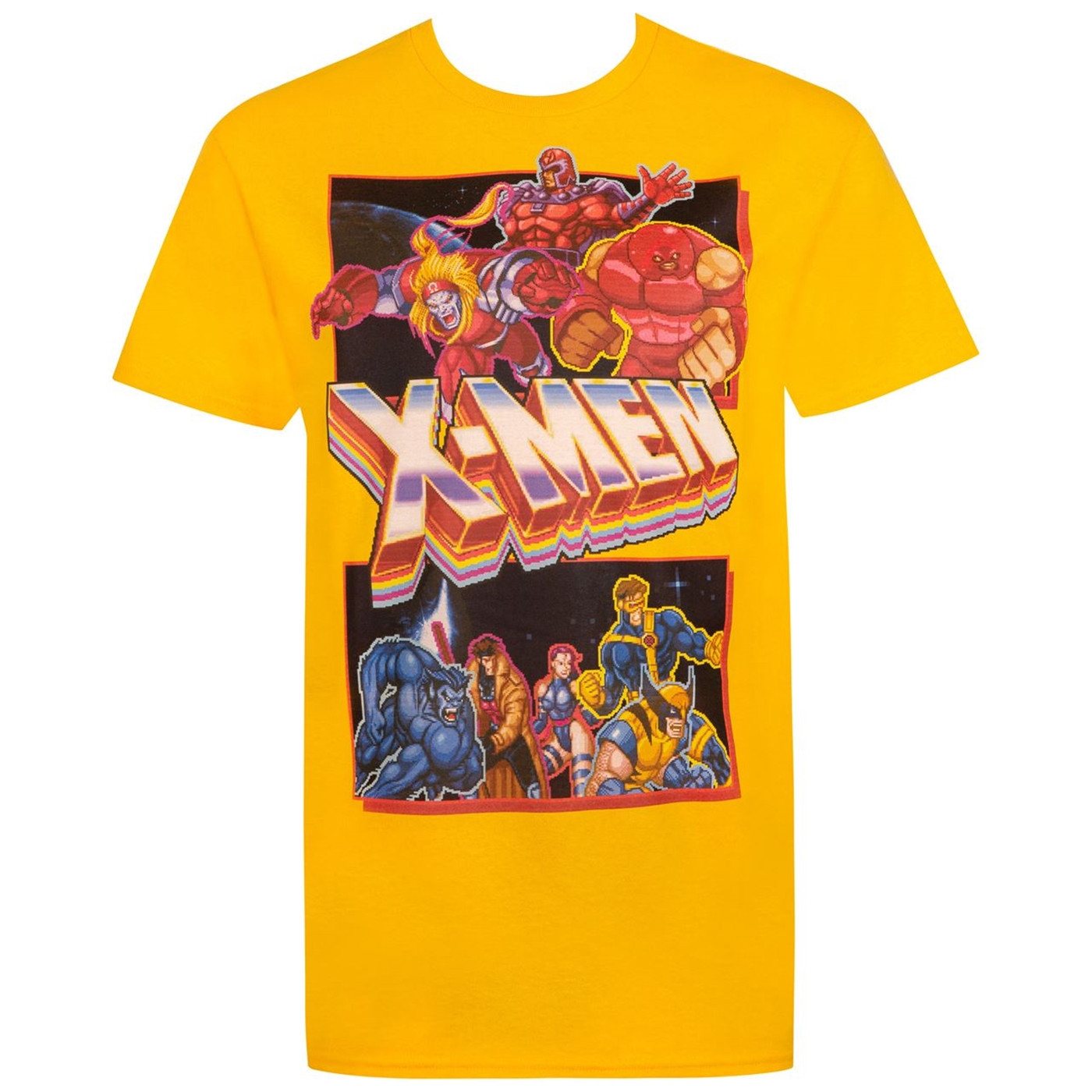 X-Men Classic Arcade Game Lineup Men's T-Shirt