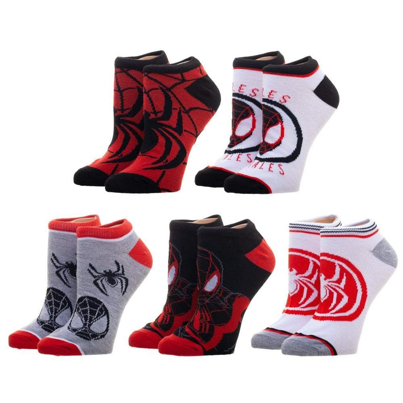 Marvel Miles Morales 5-Pair Ankle socks