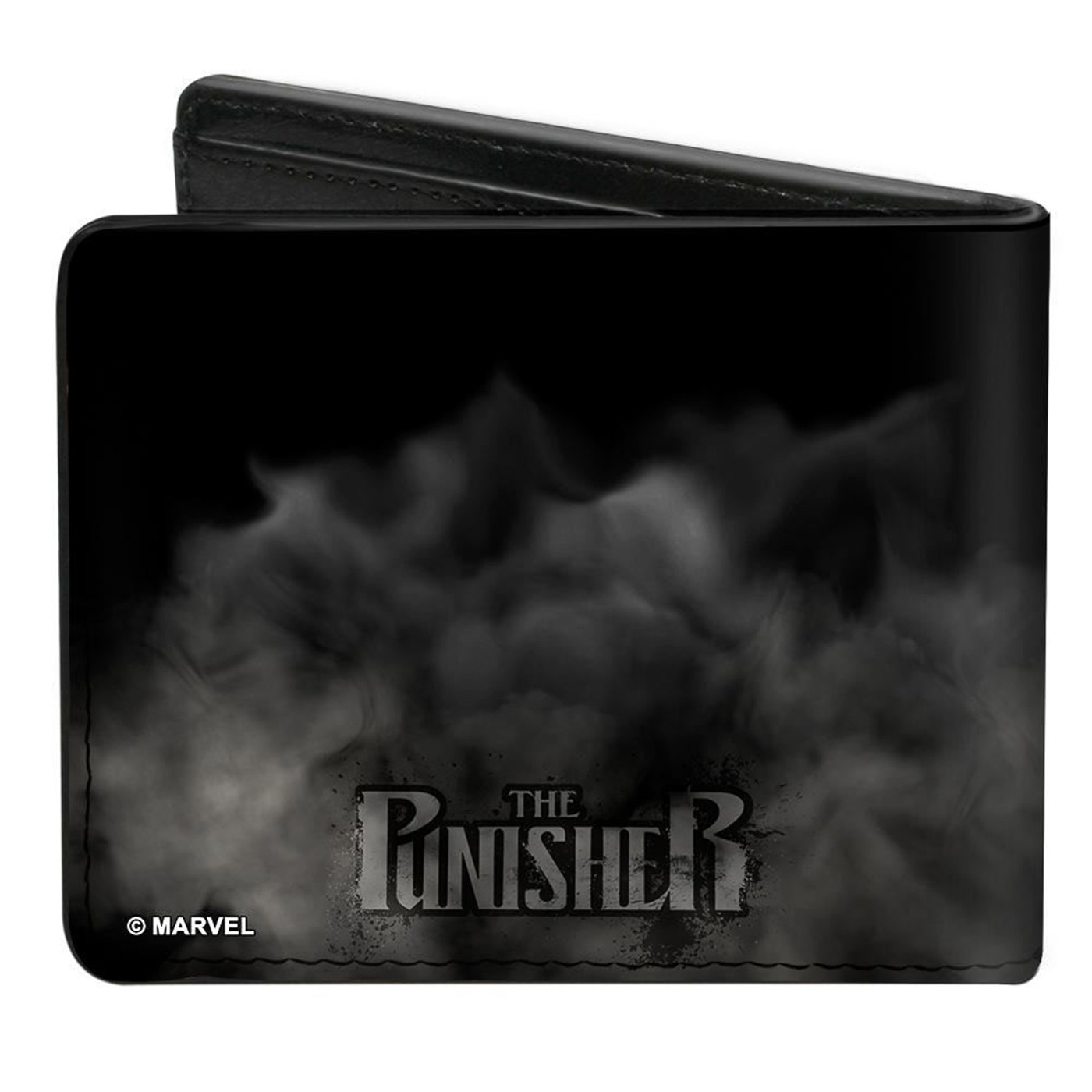 Punisher Smokey Weapons Skull Logo Bi-fold Wallet