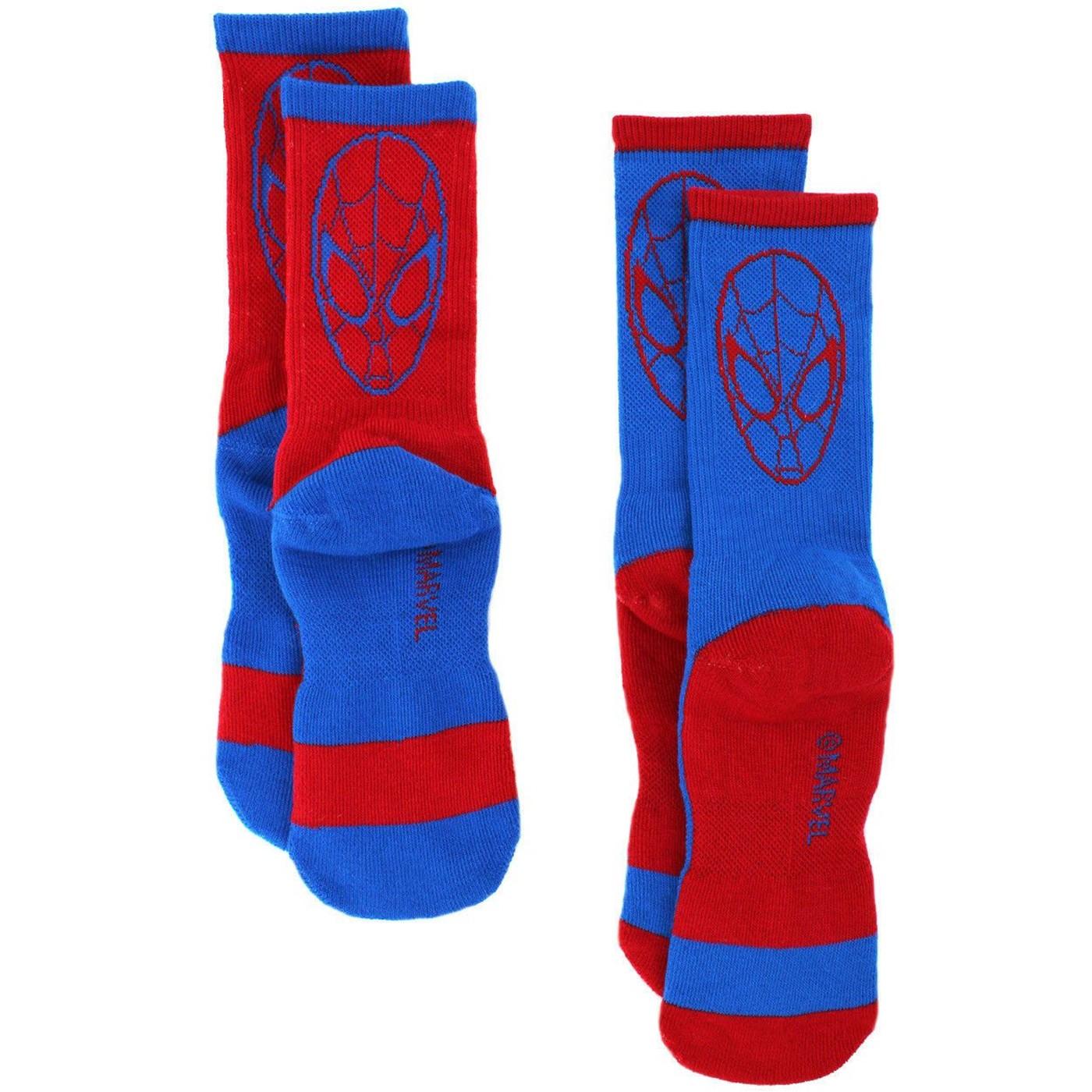 Ultimate Spider-Man 2-Pack Athletic Kids Socks