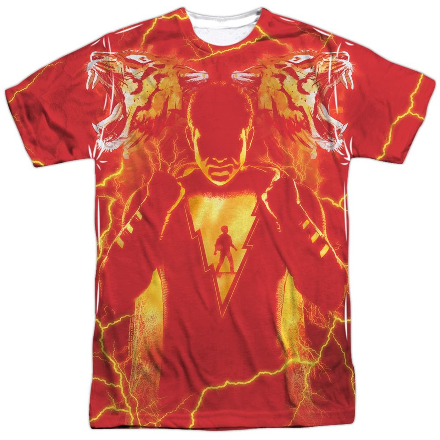 Shazam Movie What's Inside Sublimated Front and Back Print Men's T-Shirt