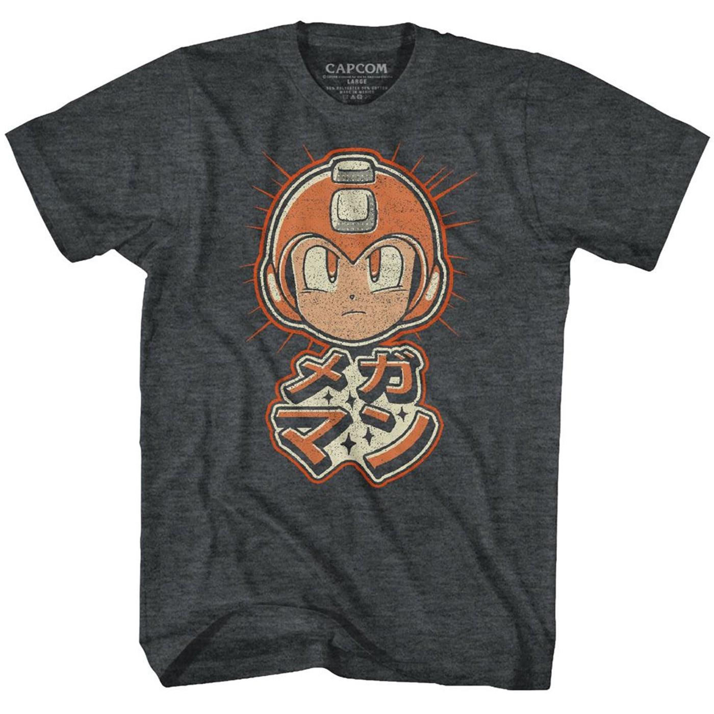Mega Man Retro Kanji T-Shirt