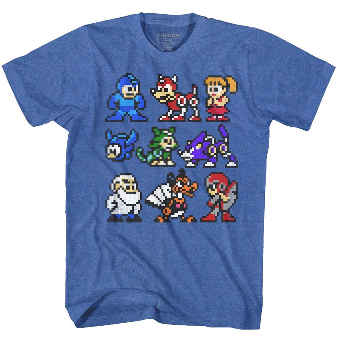 Mega Man Pixelated Cast T-Shirt