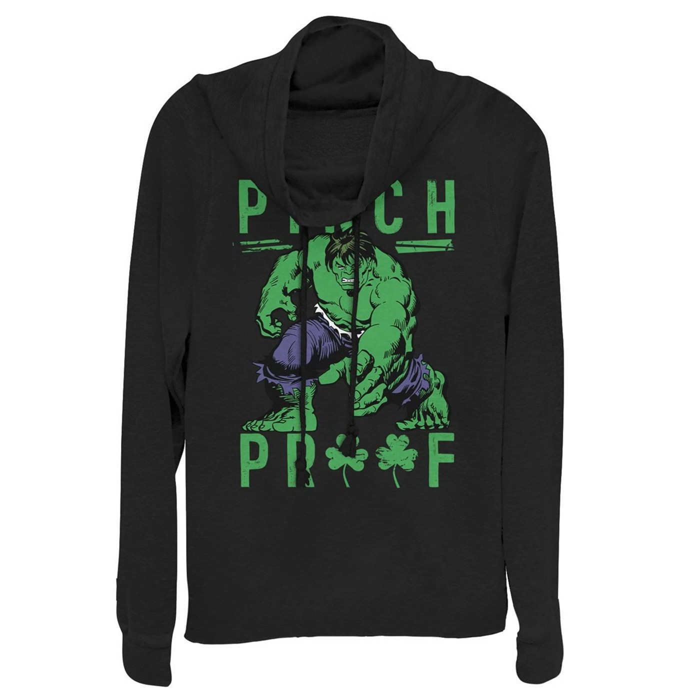 Hulk Pinch St Patrick's Day Women's Cowl Neck Sweater