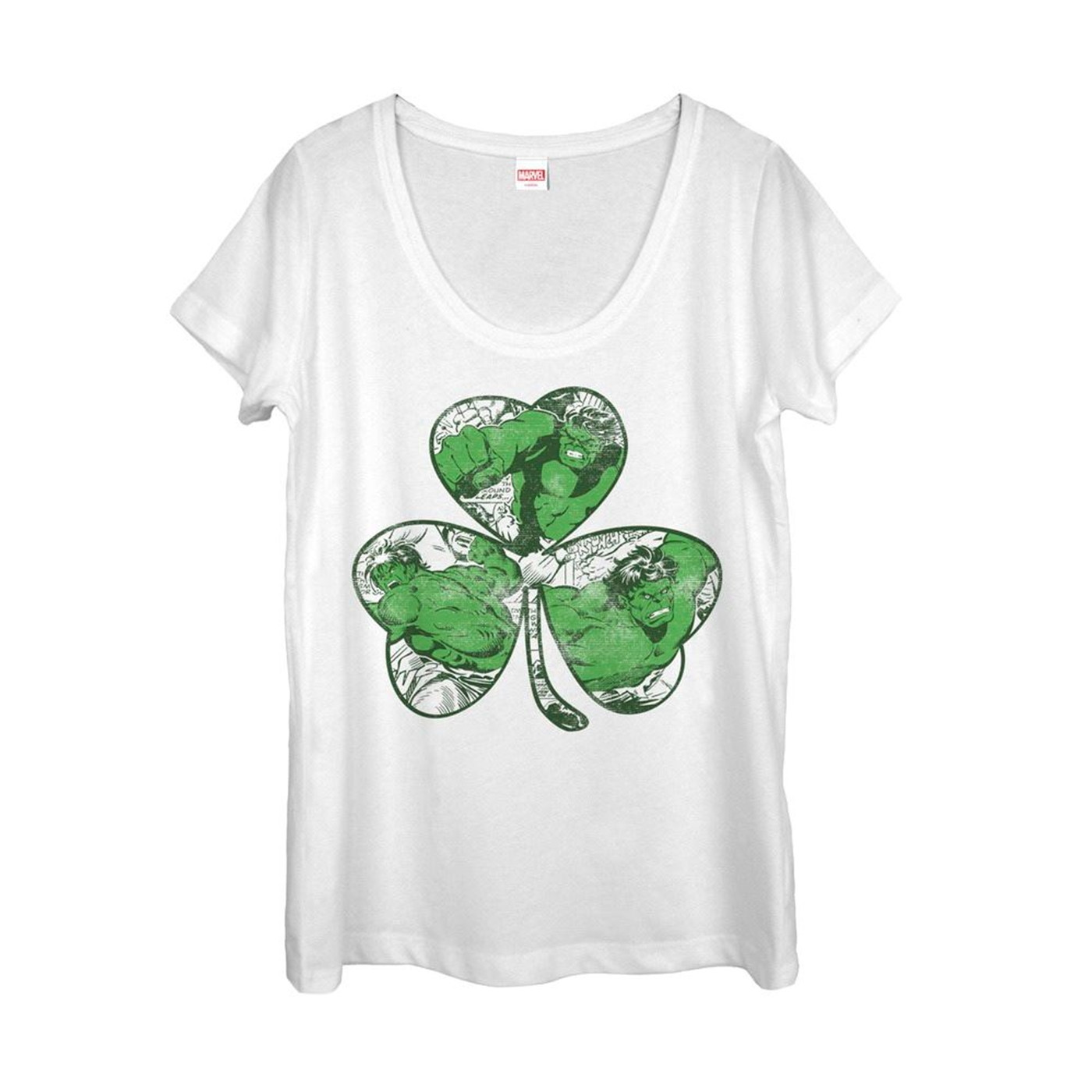 The Hulk Shamrock Womens St Patrick's Day T-Shirt