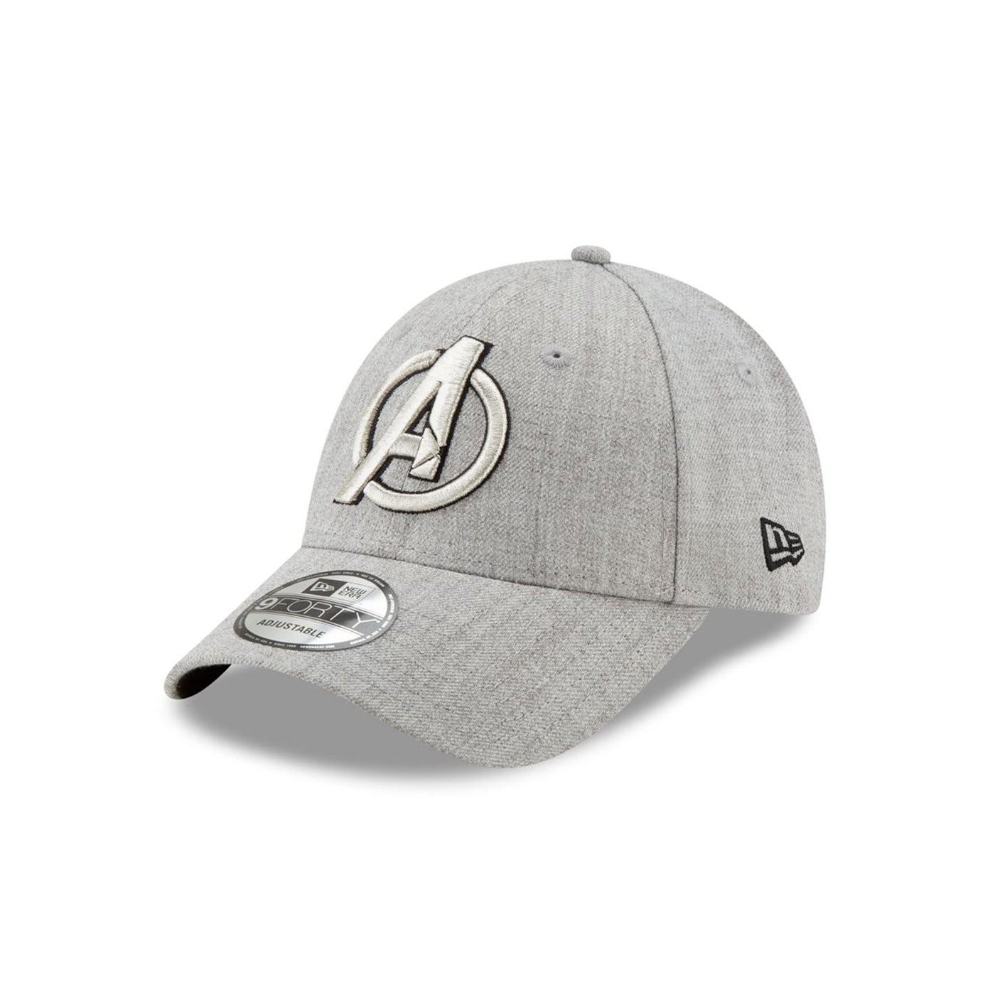 Avengers Symbol Grey New Era New Era 9Forty Adjustable Hat