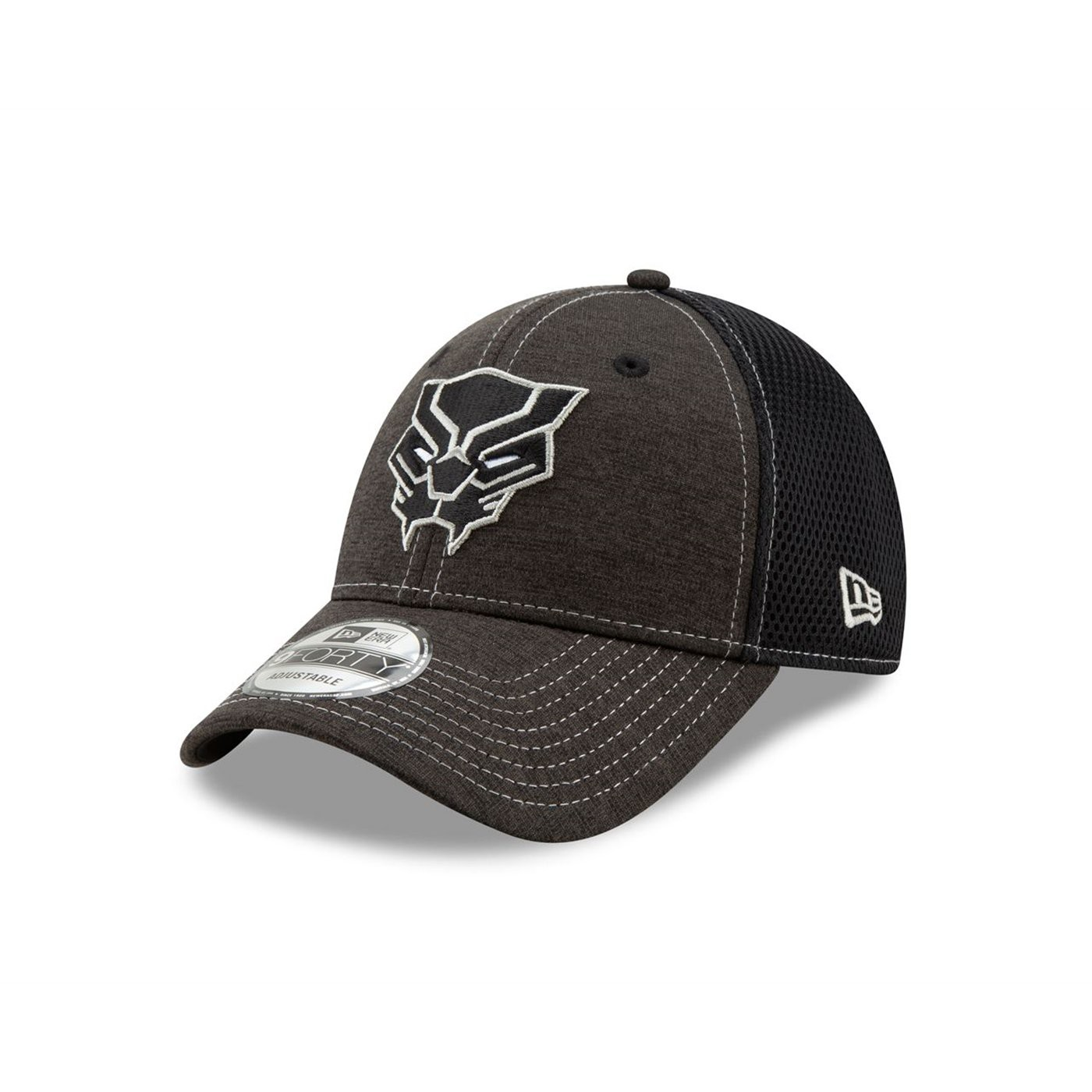 Black Panther Logo Dark Grey New Era 9Forty Adjustable Hat