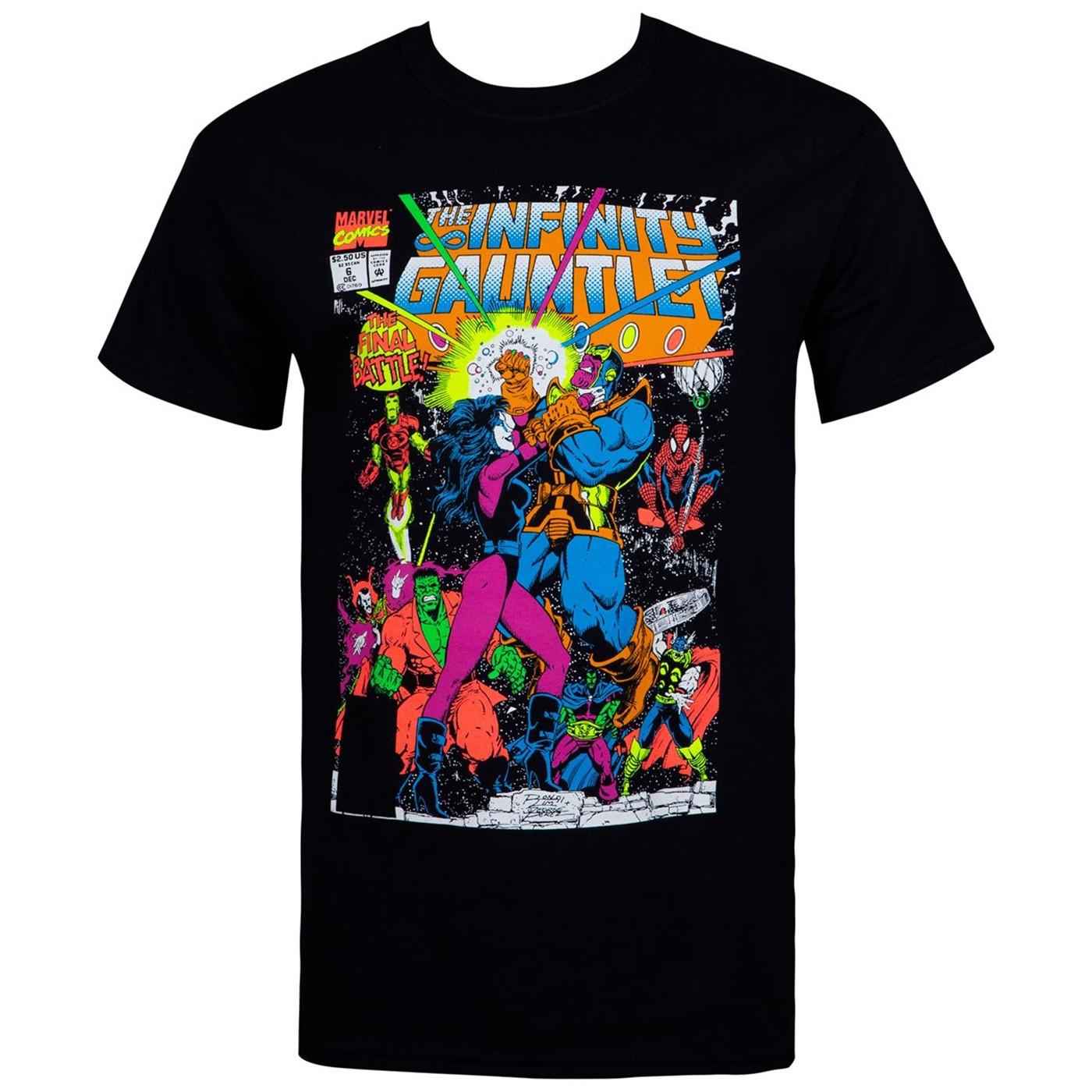 The Infinity Gauntlet Thanos Final Battle Comic Men's T-Shirt
