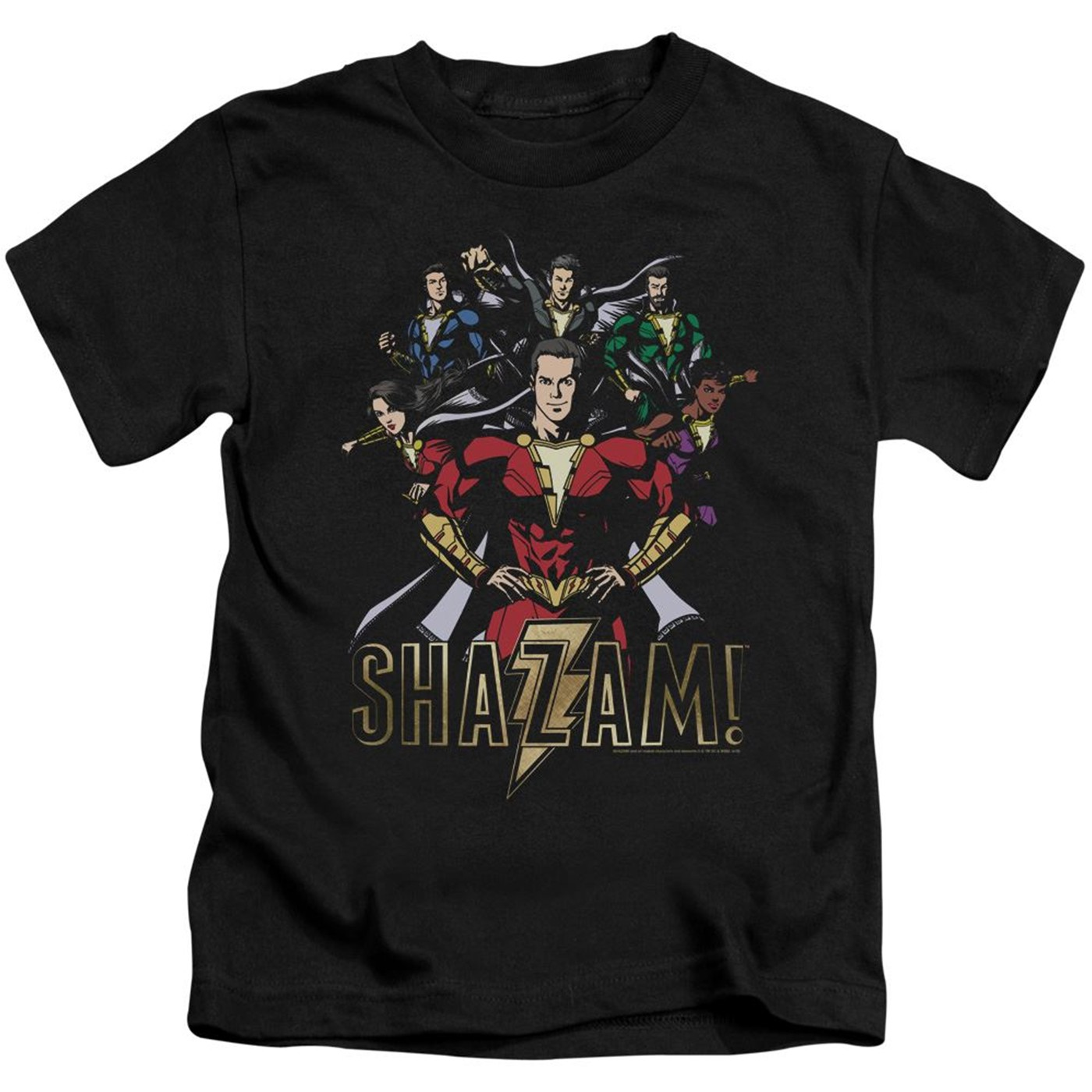 Shazam Group Of Heroes Kids T-Shirt