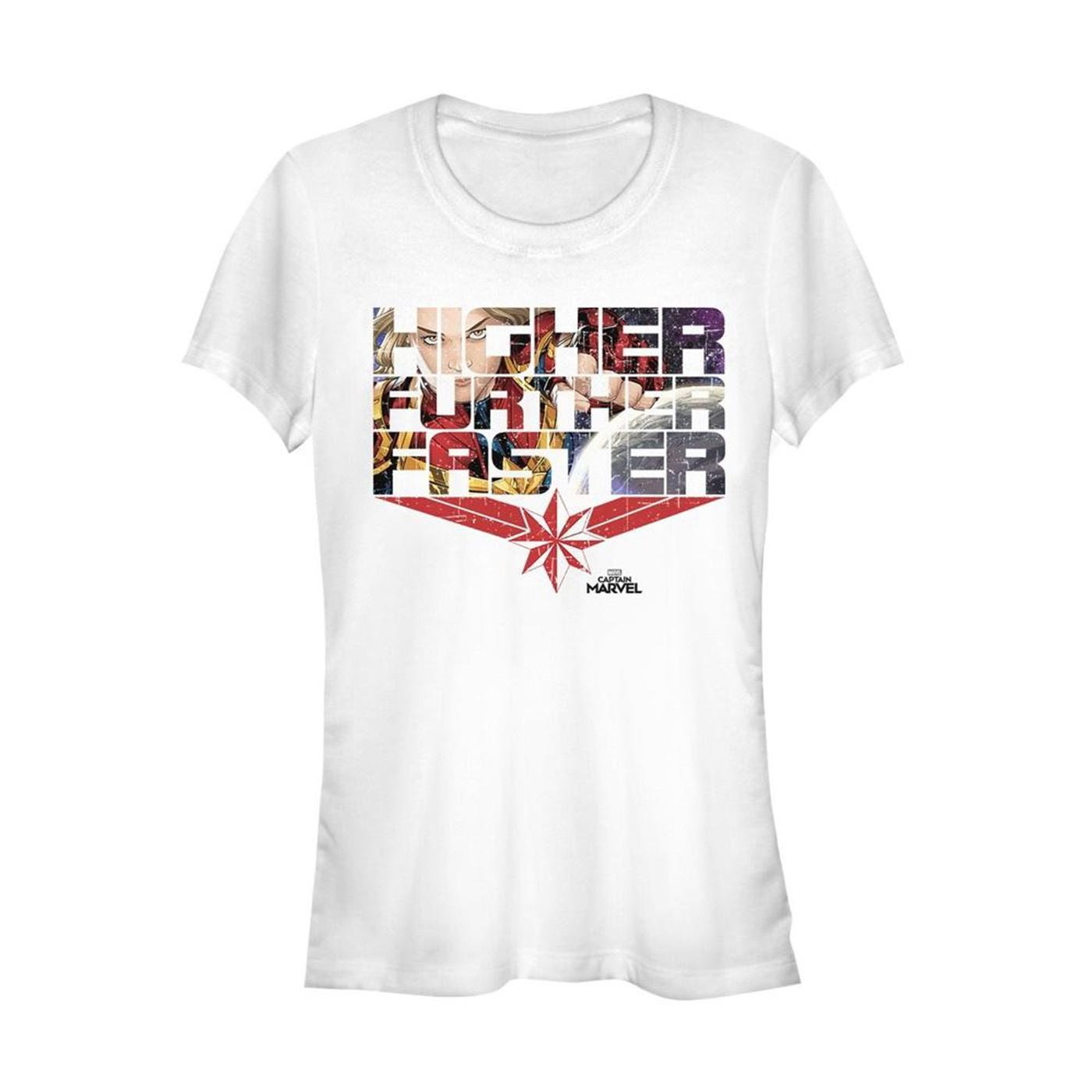 Captain Marvel Higher Further Faster Women's T-Shirt