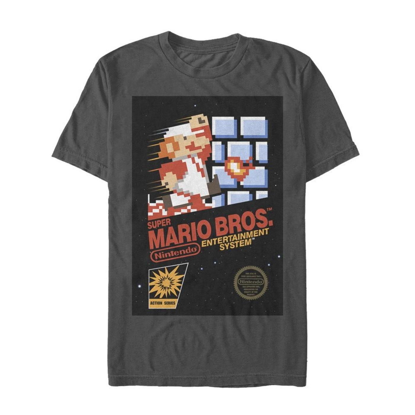 Super Mario Brothers Cover Art T-Shirt