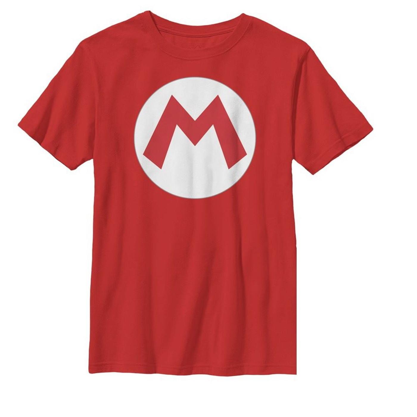 Mario Symbol Kids T-shirt
