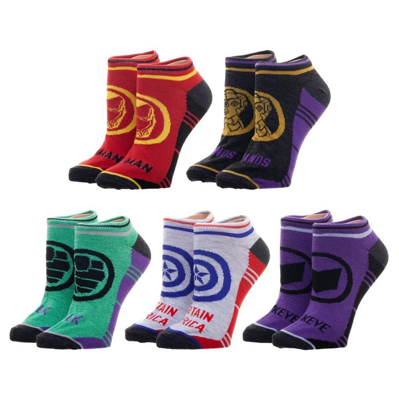 Avengers Endgame 5-Pack Socks
