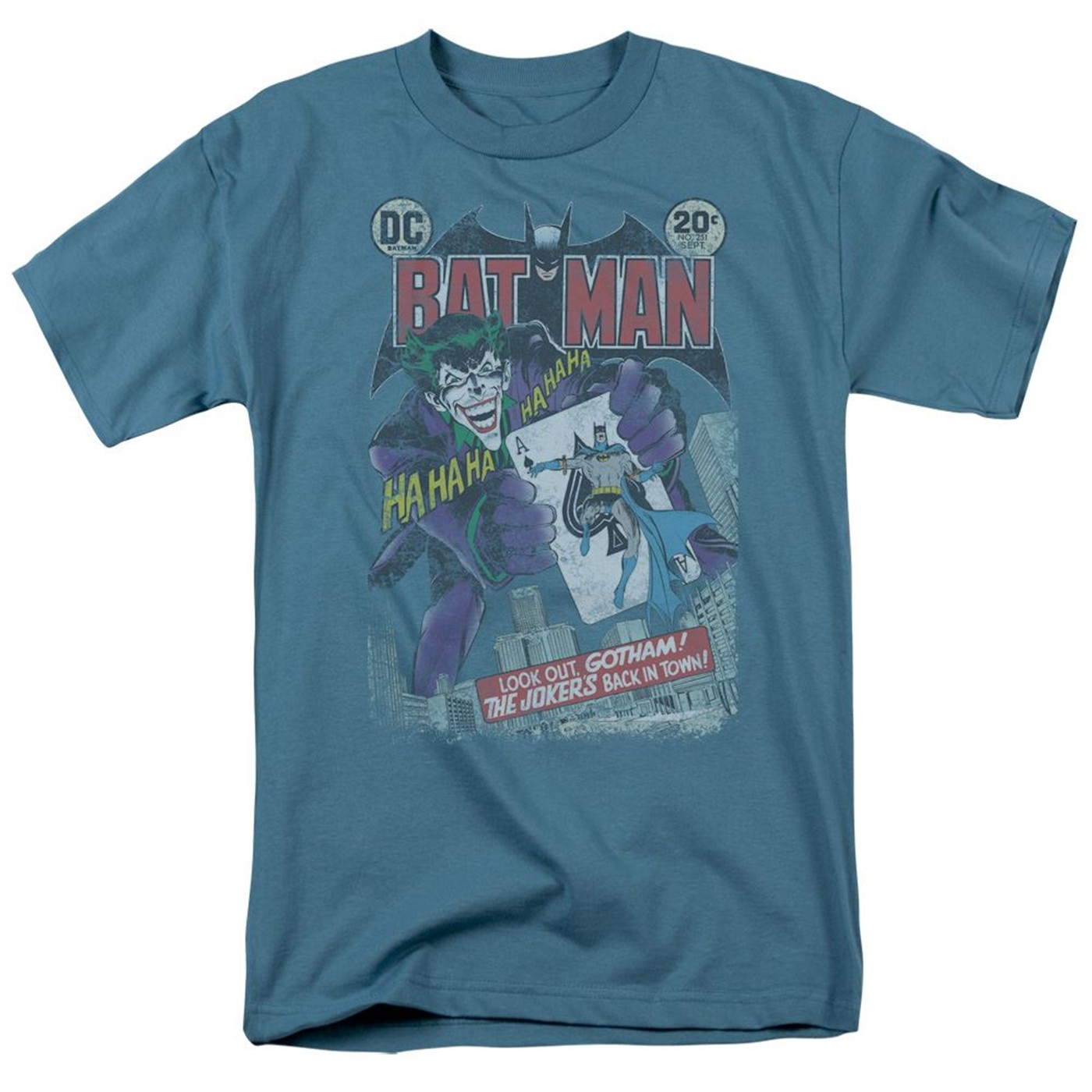 Batman Comics Cover #251 Distressed Men's T-Shirt