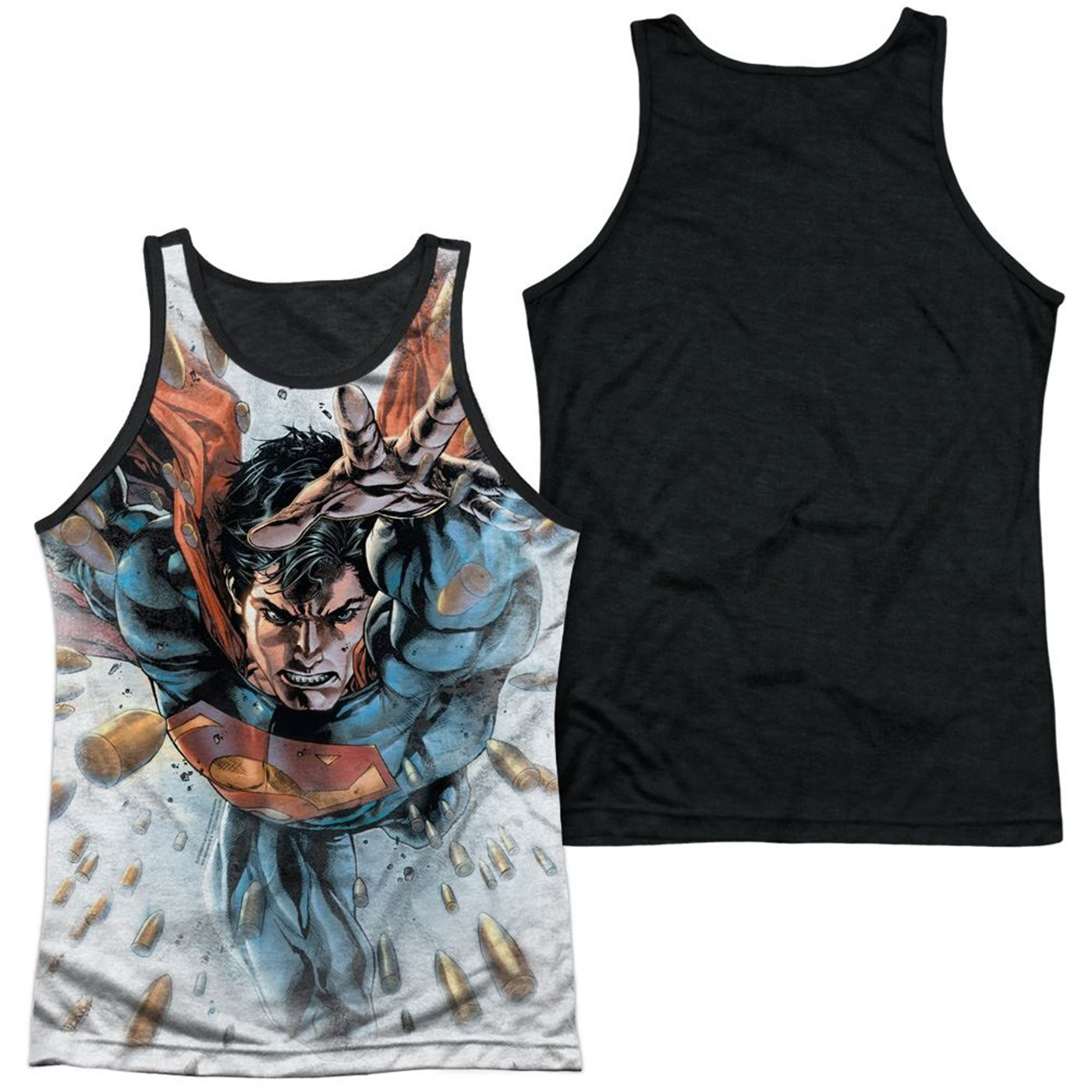 Superman Bullets in the Sky Sublimated Tank Top
