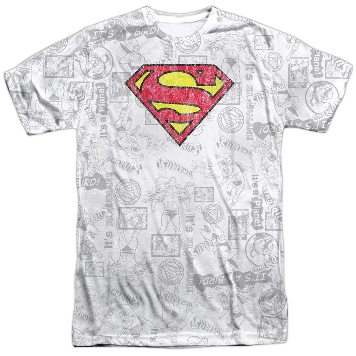 Superman Classic Repeat Front and Back Sublimated T-Shirt