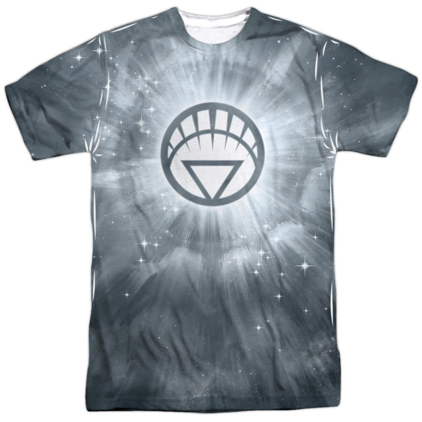 Green Lantern White Energy Symbol Sublimated Front and Back Men's T-Shirt
