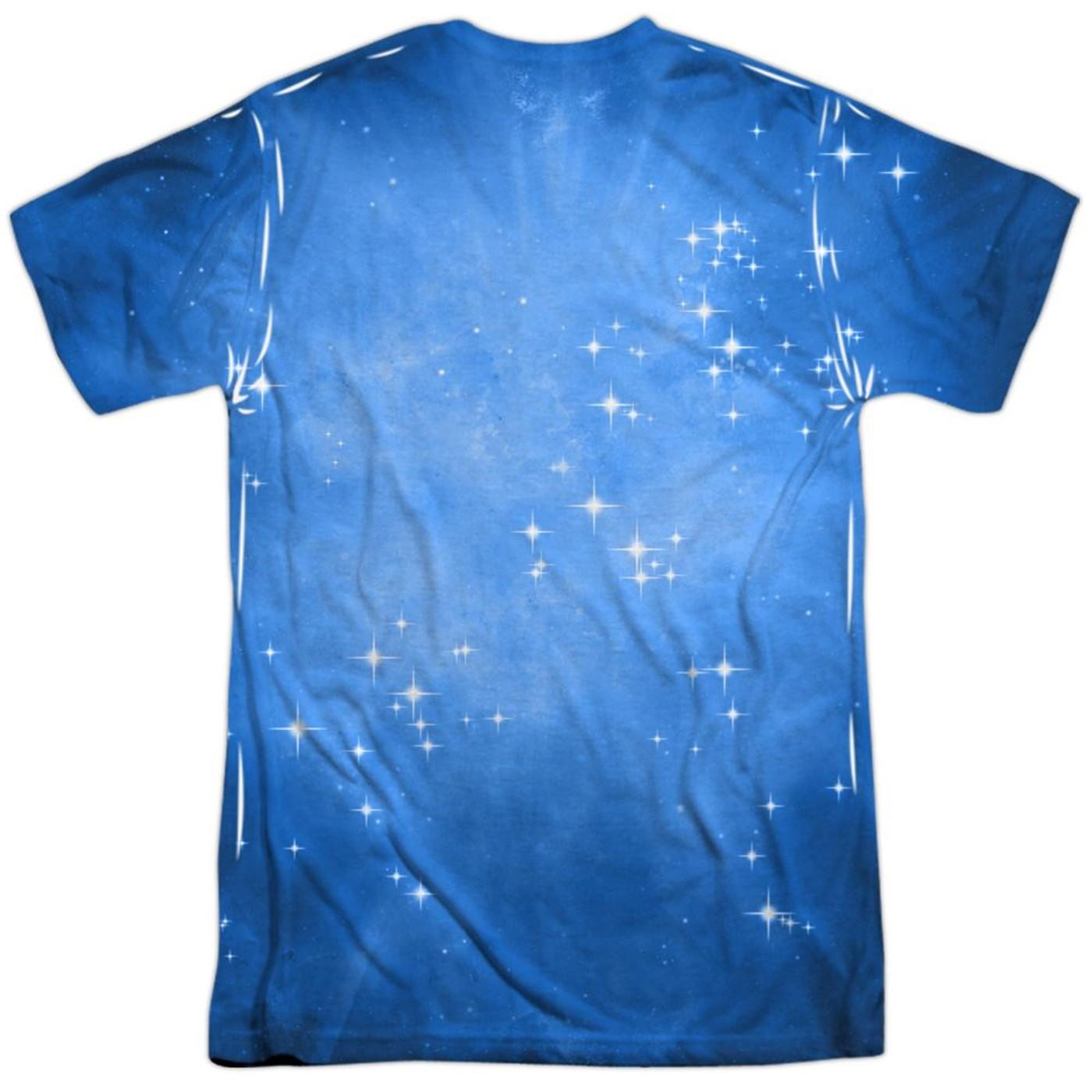 Green Lantern Indigo Energy Symbol Sublimated Front and Back Men's T-Shirt