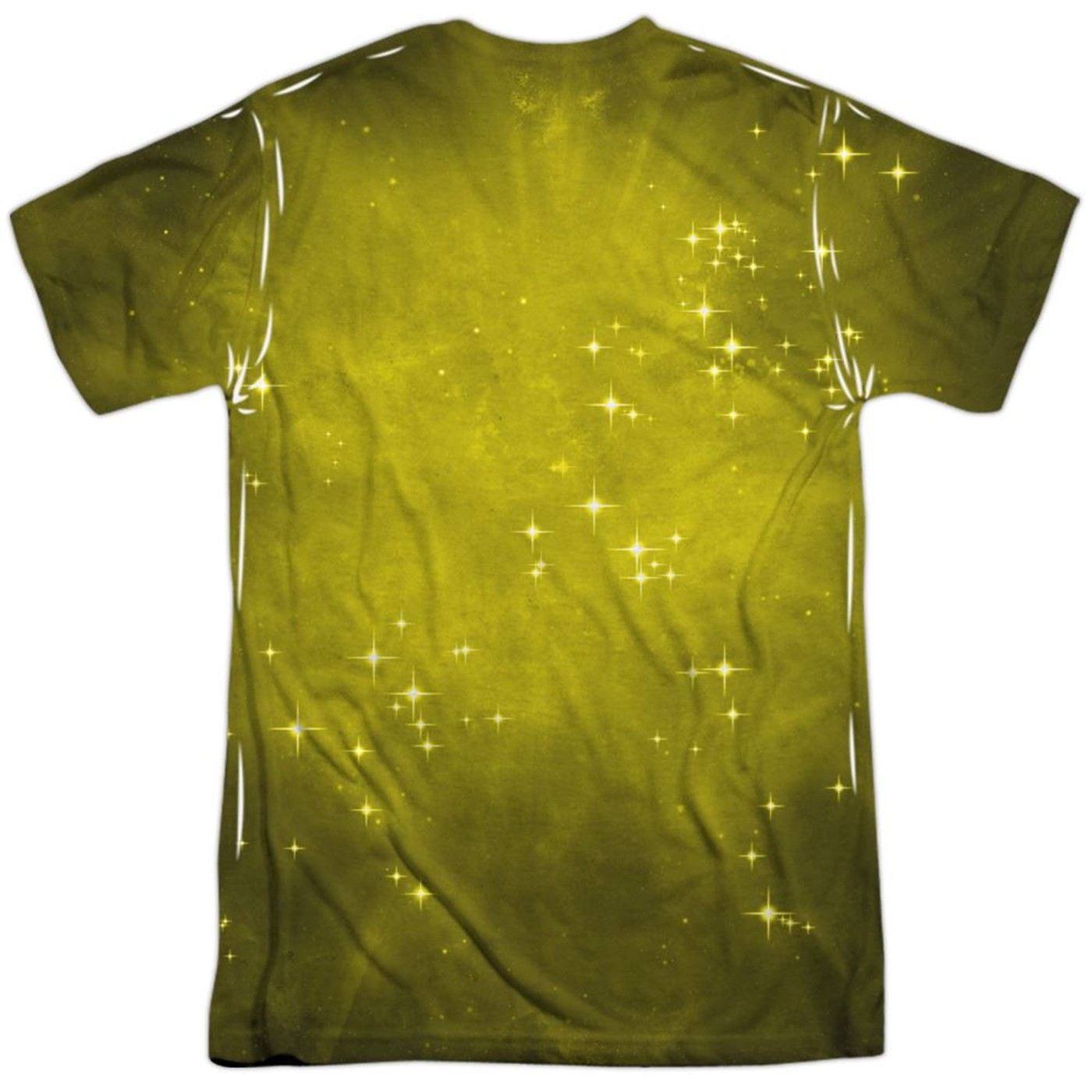 Green Lantern Yellow Energy Symbol Sublimated Front and Back Men's T-Shirt
