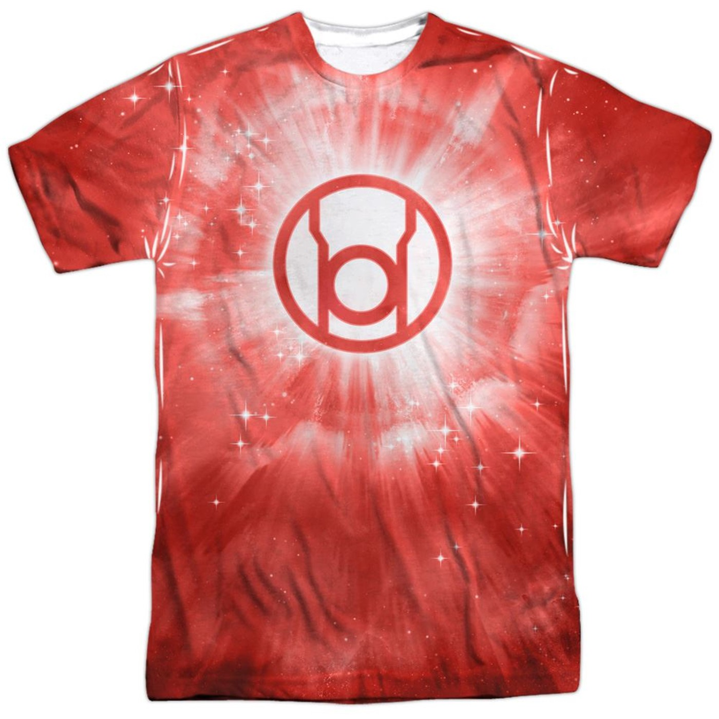 Green Lantern Red Energy Symbol Sublimated Front and Back Men's T-Shirt
