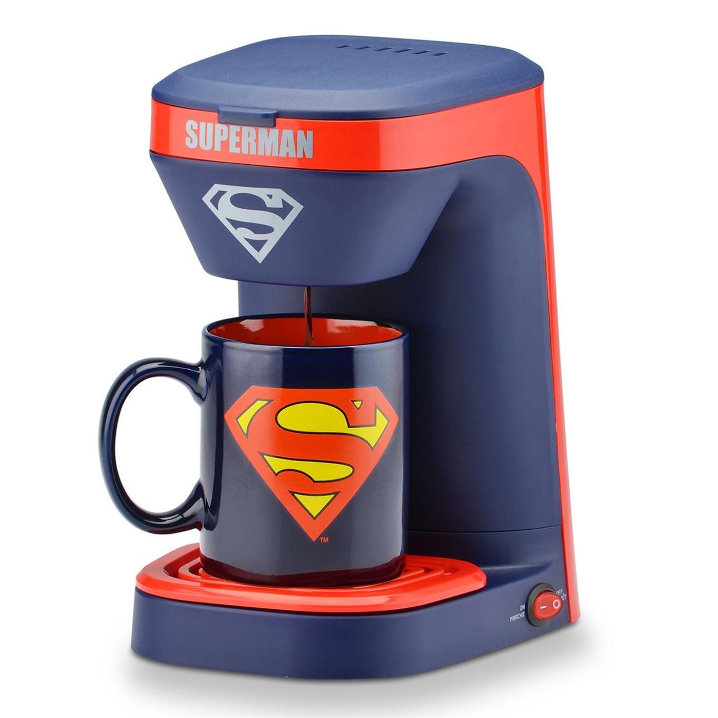 Superman 1-Cup Coffee Maker with Mug
