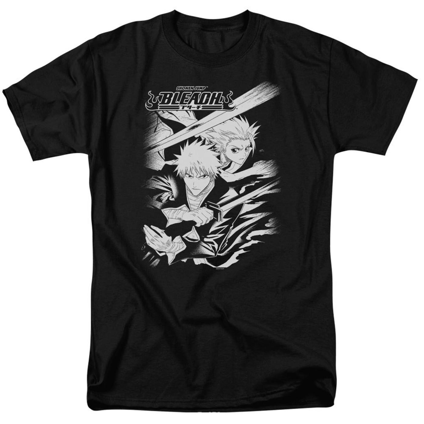 Bleach Swords Men's Black T-Shirt