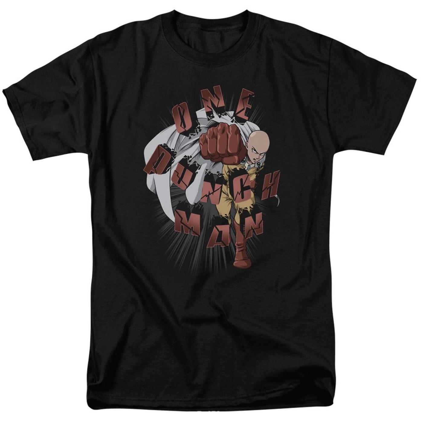 One Punch Man Logo Men's Black T-Shirt