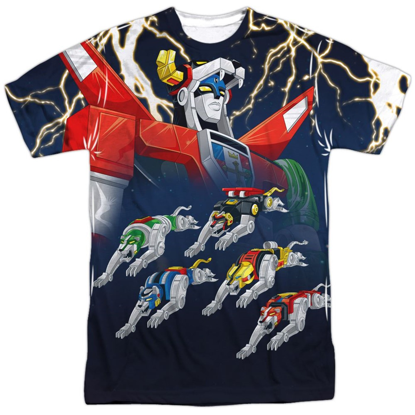 Voltron Lighting Sublimated Front and Back T-Shirt