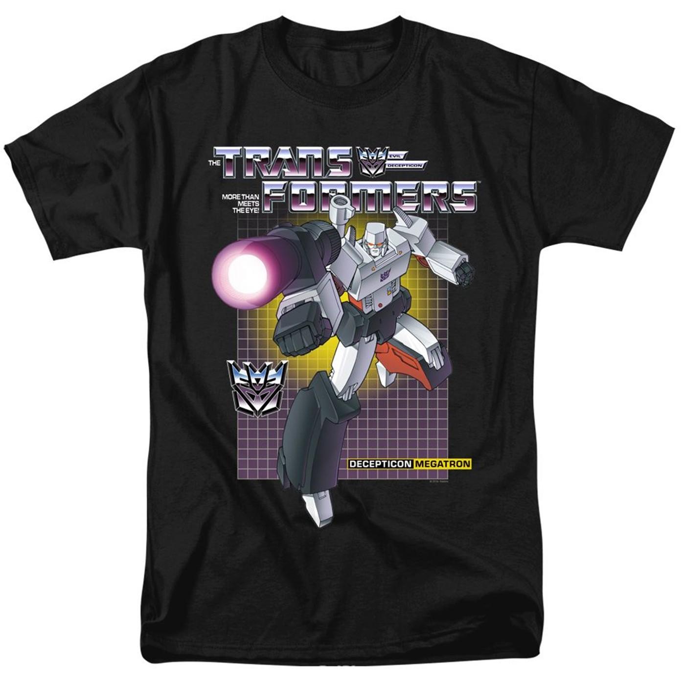 Transformers Megatron Black Men's T-Shirt