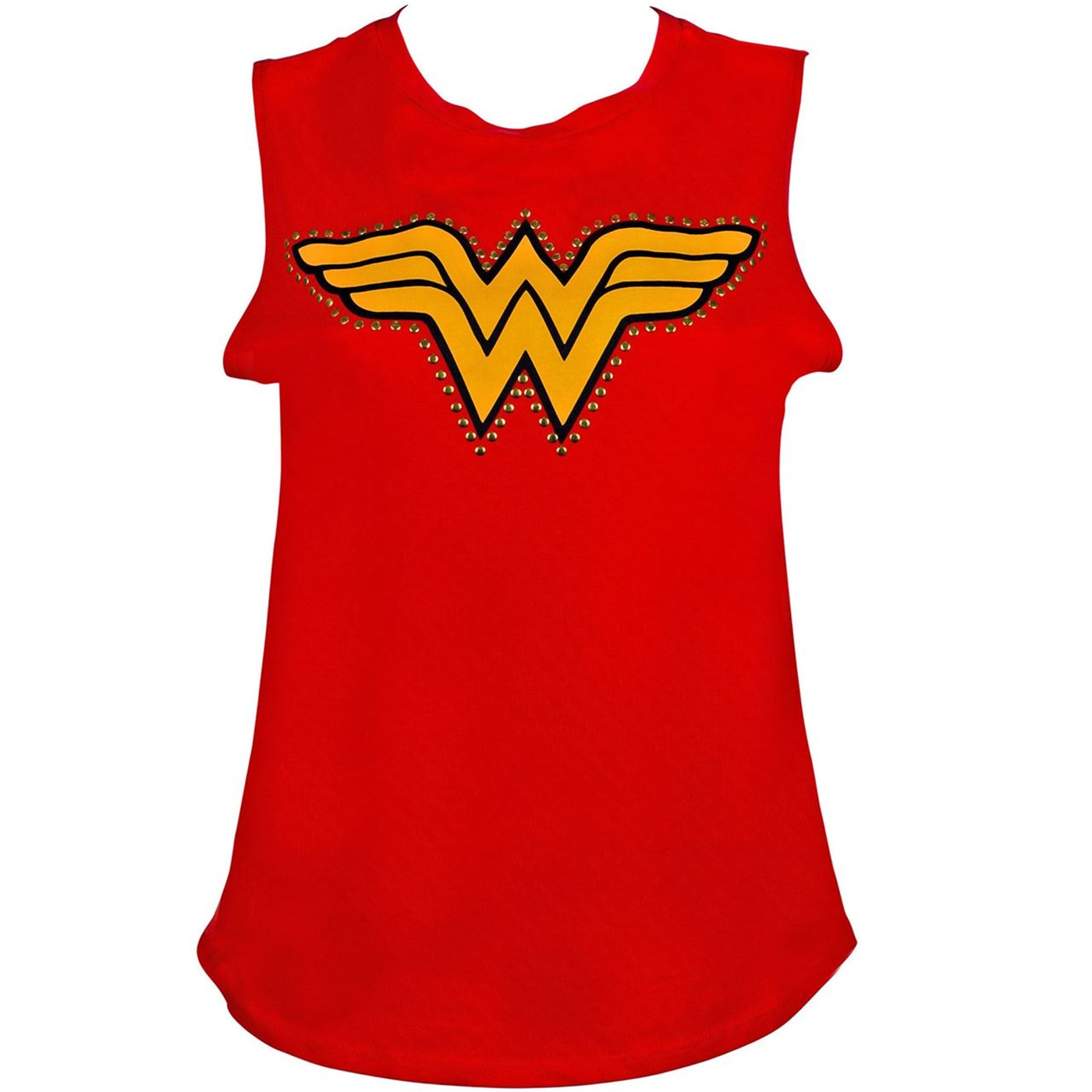 Wonder Woman Studded Red Tank Top
