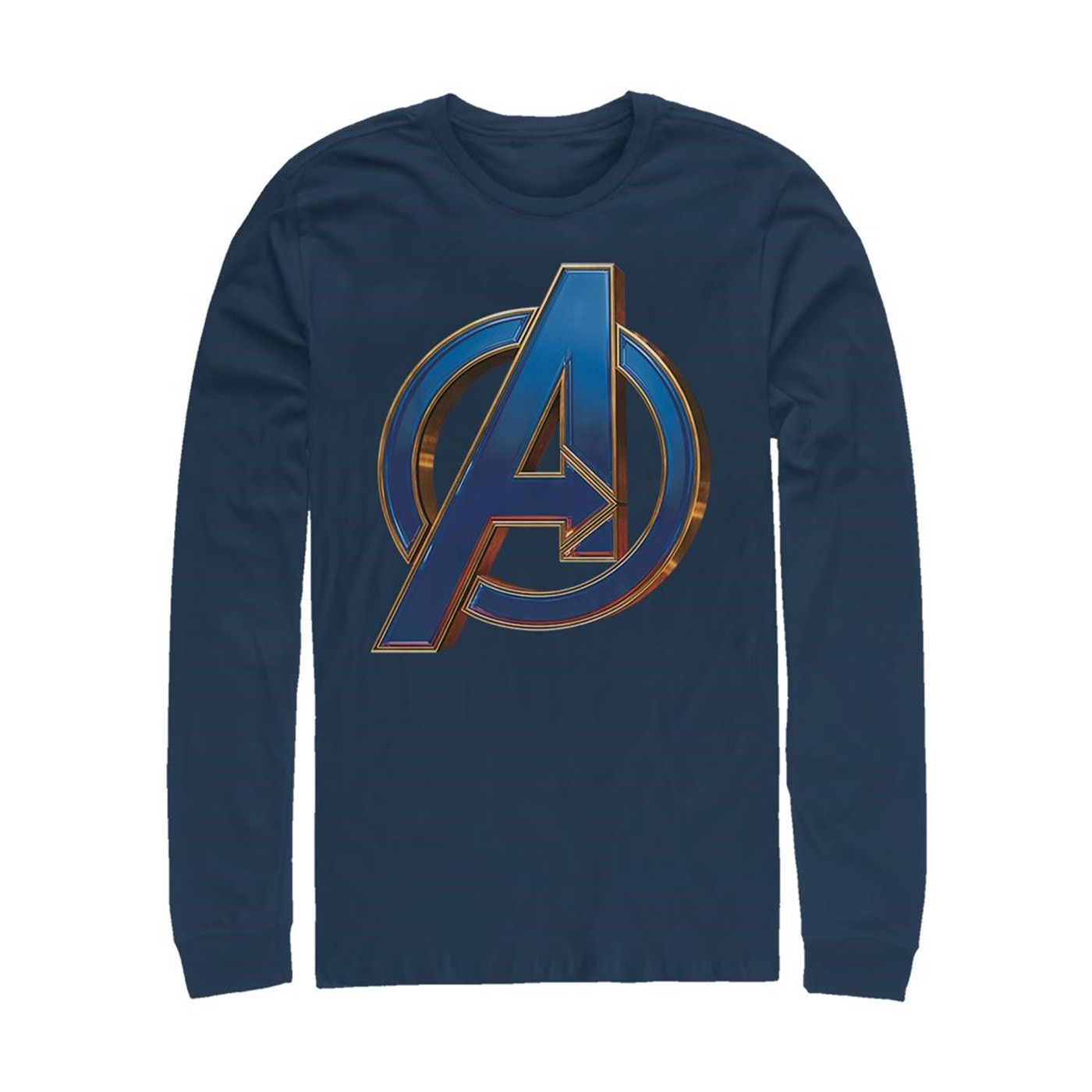 Avengers Endgame Logo Blue Long Sleeve Shirt