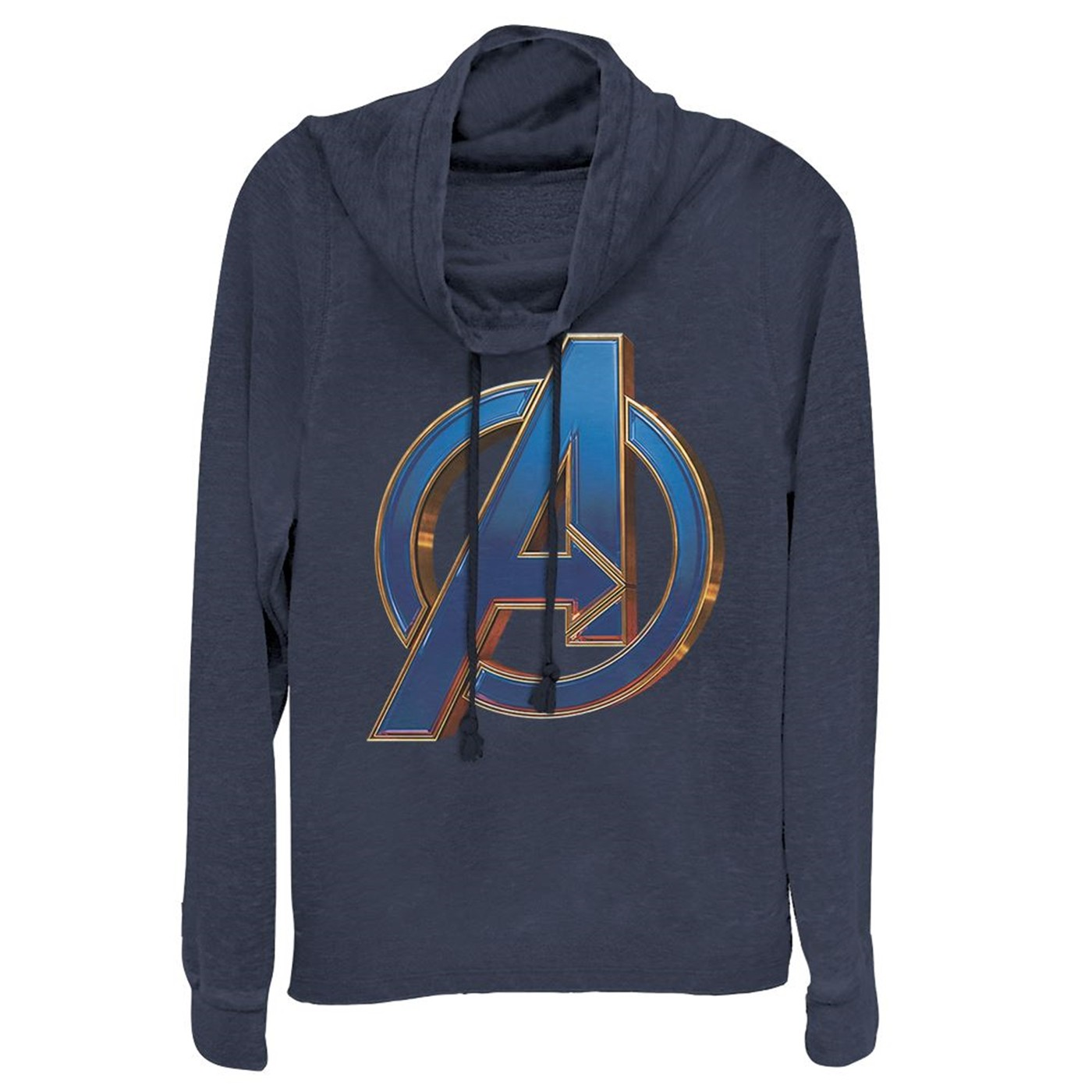 Avengers Endgame Blue Logo Women's Cowl Neck Sweater