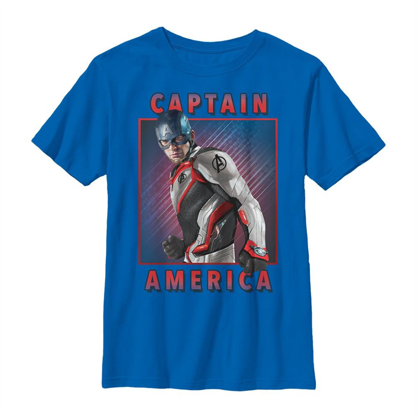 Avengers Endgame Captain America Armor Solo Youth T-Shirt