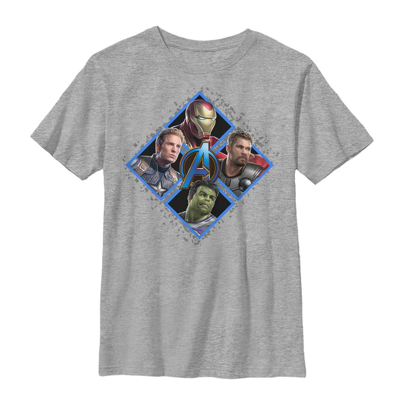 Avengers Endgame Square Box Group Shot Youth T-Shirt