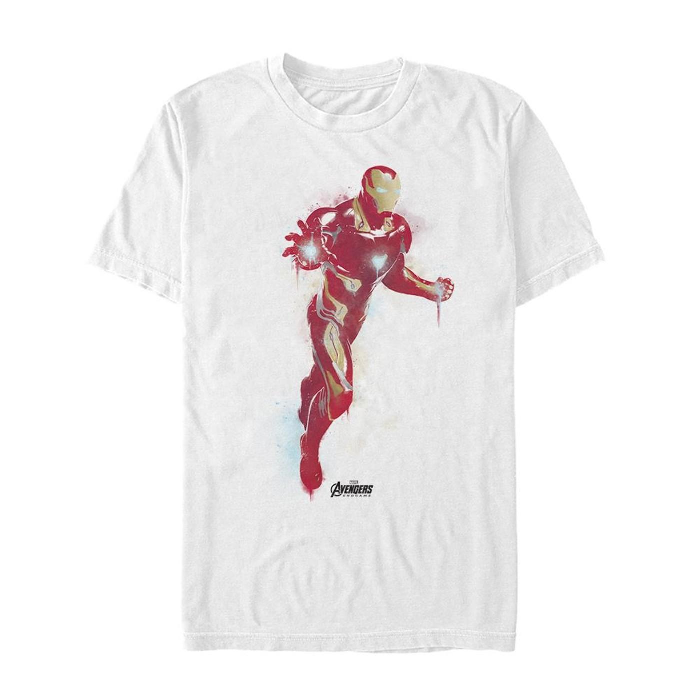 Avenger Endgame Iron Man Painted Men's T-Shirt