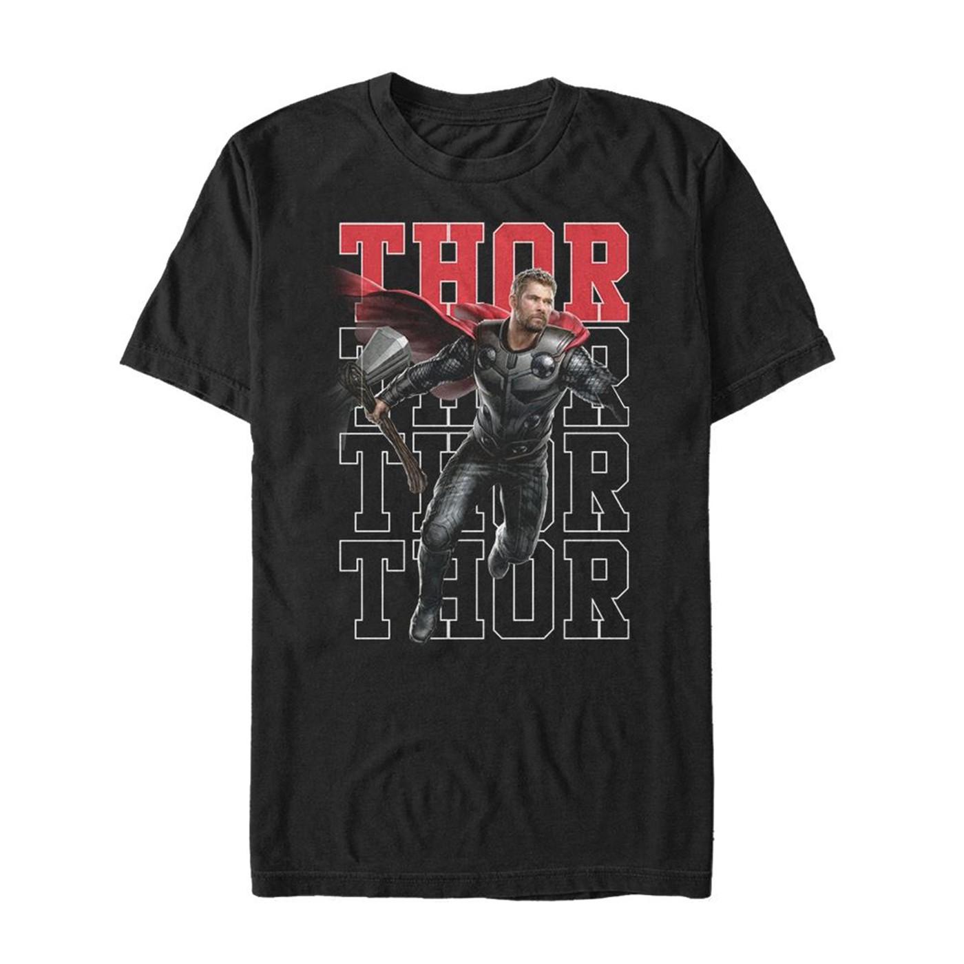 Avengers Endgame Thor Heroic Shot Men's T-Shirt