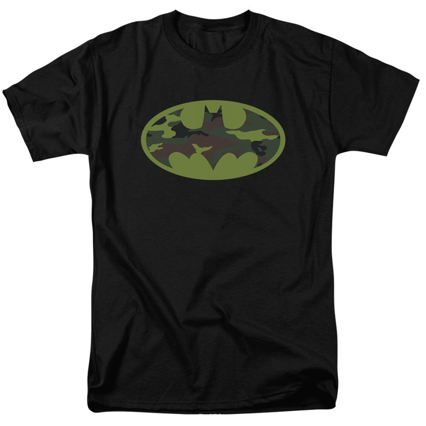 Batman Camo Symbol on Black Men's T-Shirt