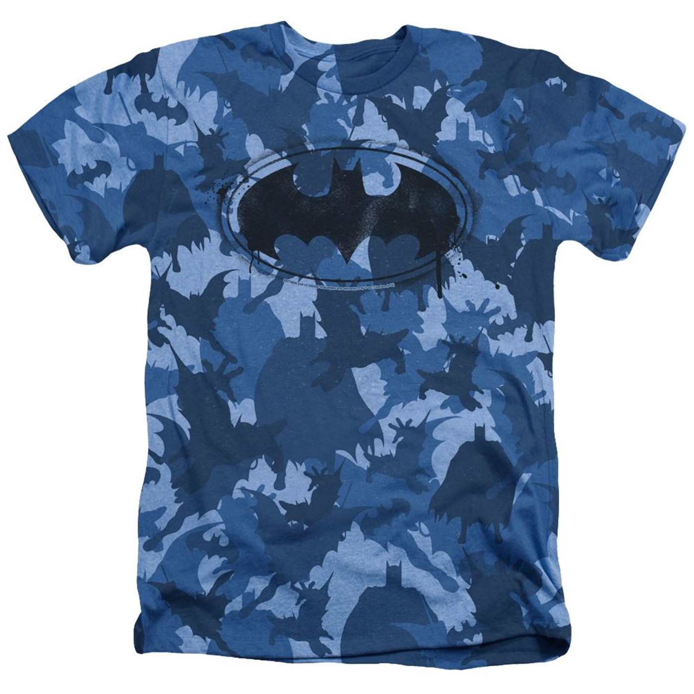 Batman Symbol All Over Blue Camo Men's T-Shirt