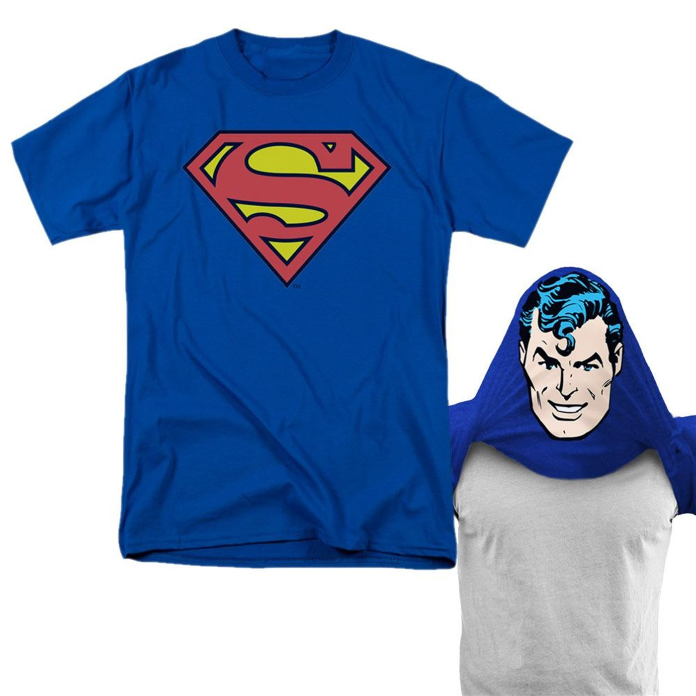 Superman Reversible Mask Men's T-Shirt