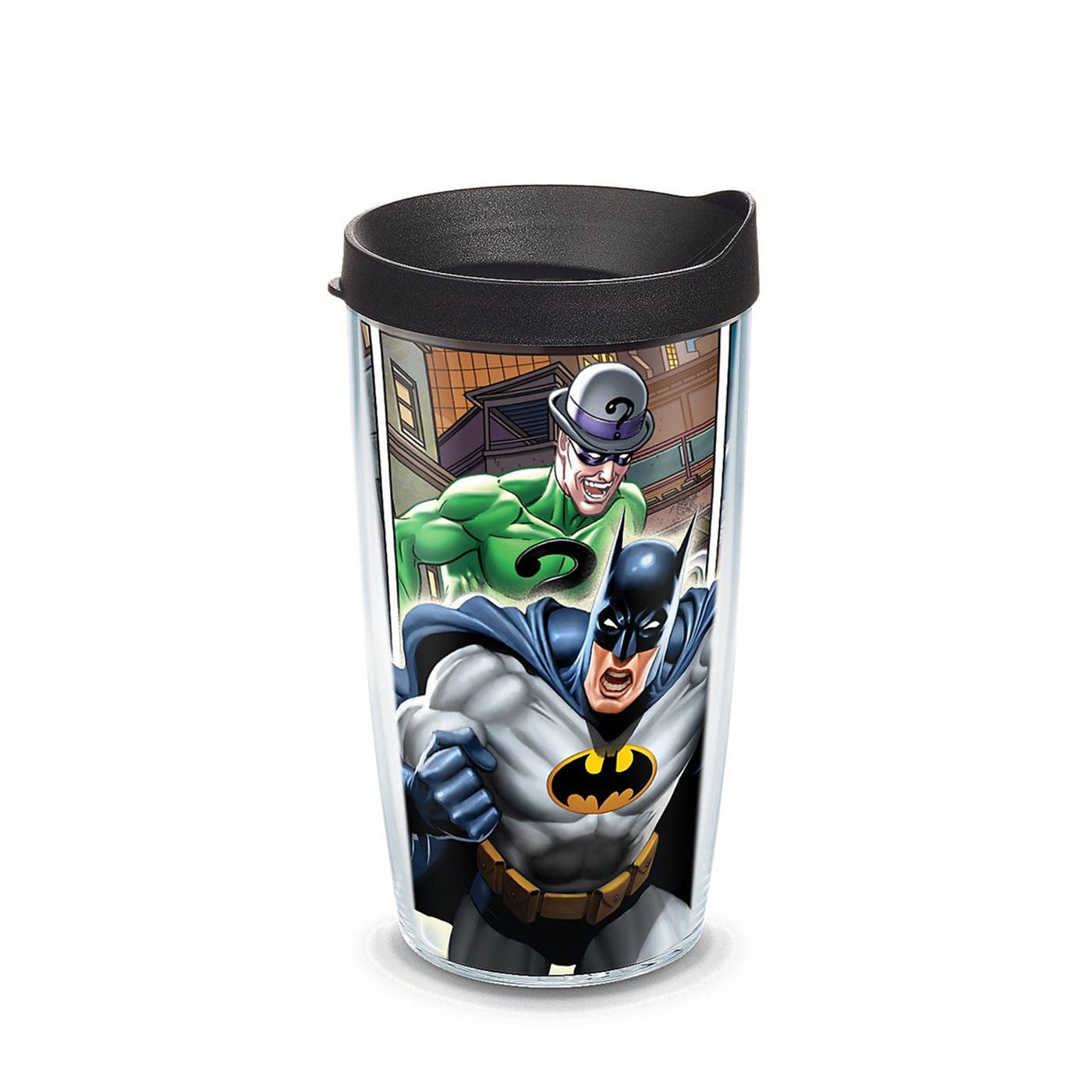 Batman Comics Wrap Tumbler With Lid 16 oz Tervis