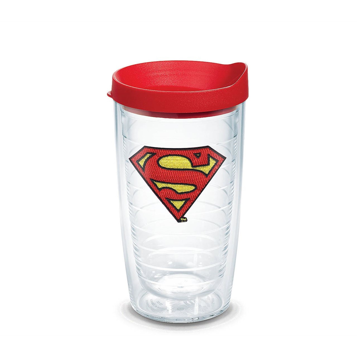 Superman Emblem Tumbler with Lid 16 oz Tervis