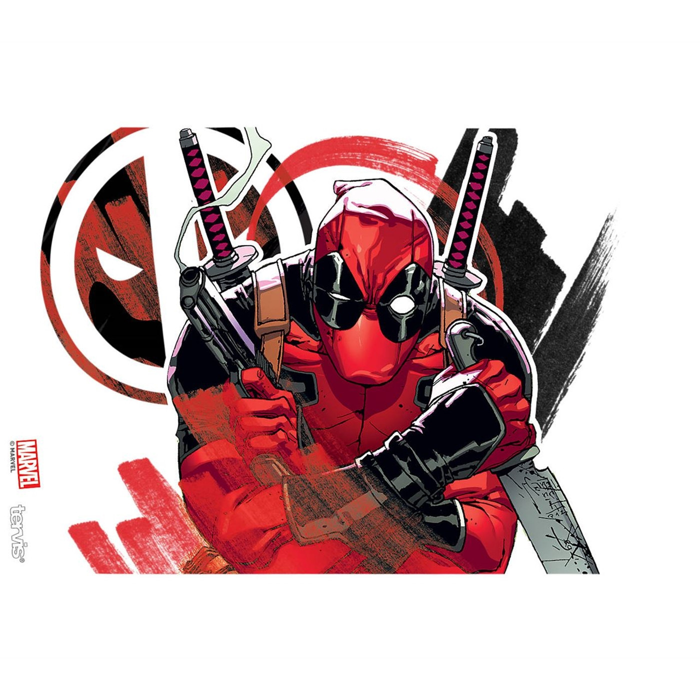 Deadpool Iconic Wrap Tumbler With Travel Lid 16 oz Tervis®
