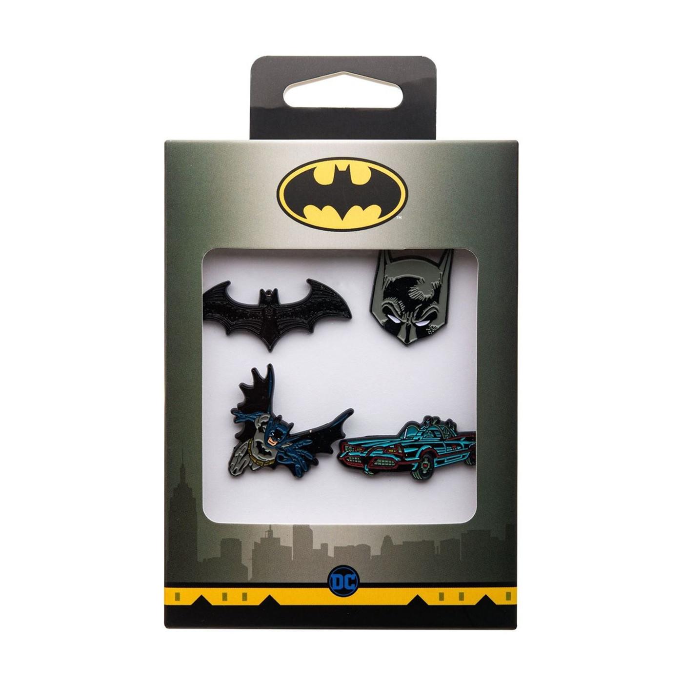 Batman Enamel 4-Piece Pin Set