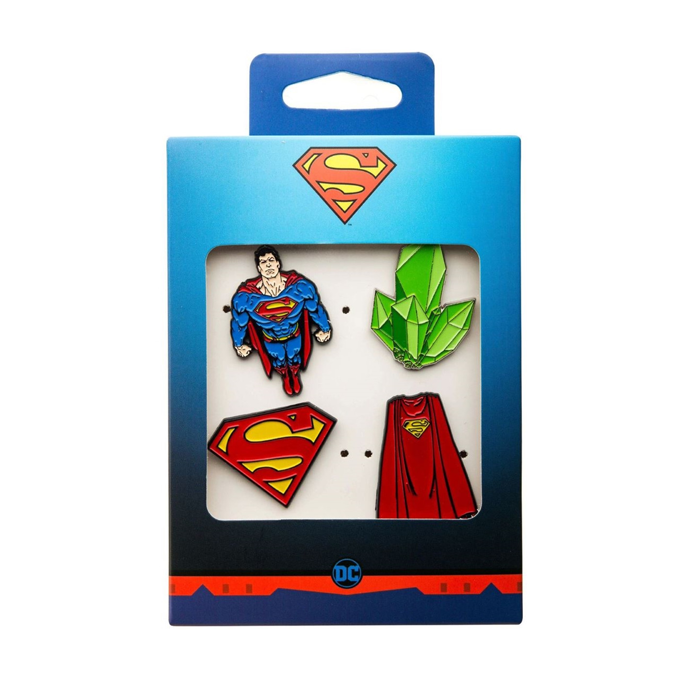 Superman Enamel 4-Piece Pin Set
