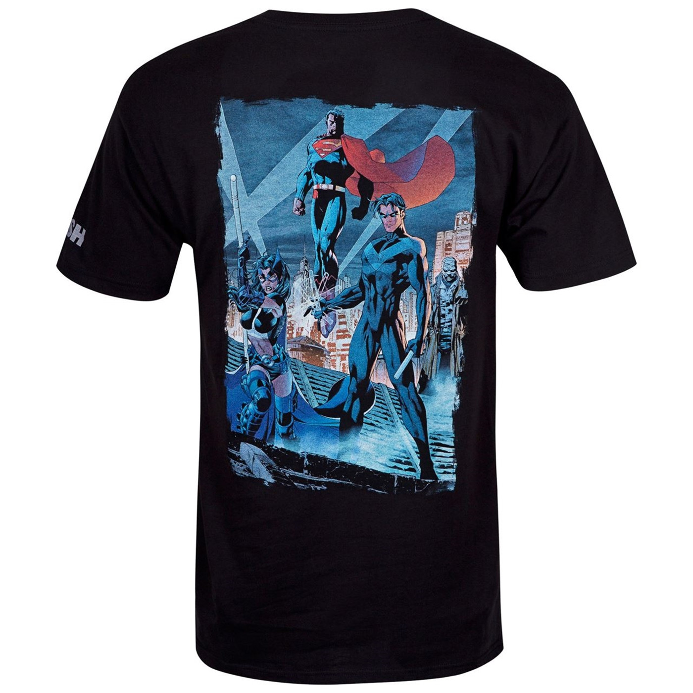 Batman Hush Comic Rooftop Meeting Image Men's T-Shirt