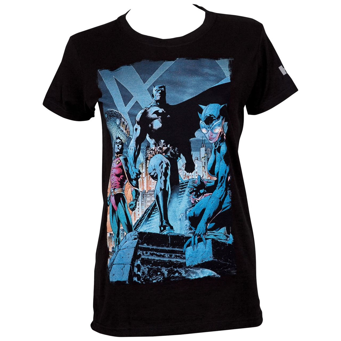 Batman Hush Comic Rooftop Meeting Image Women's T-Shirt