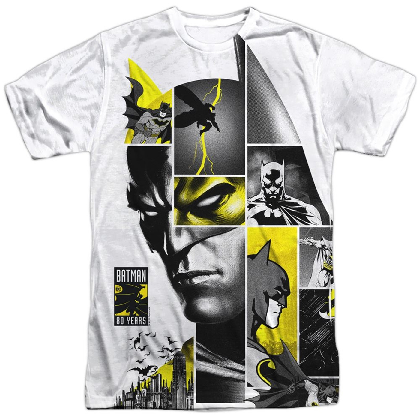 Batman 80th Panels Sublimated Front Print Men's T-Shirt