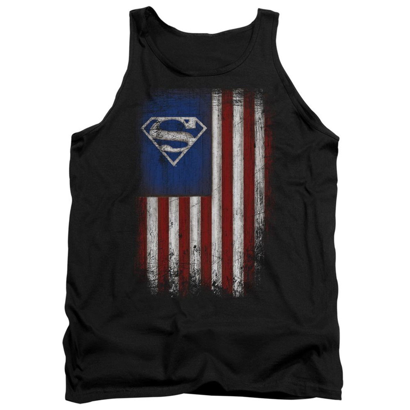 Superman Old Glory Shield Men's Tank Top