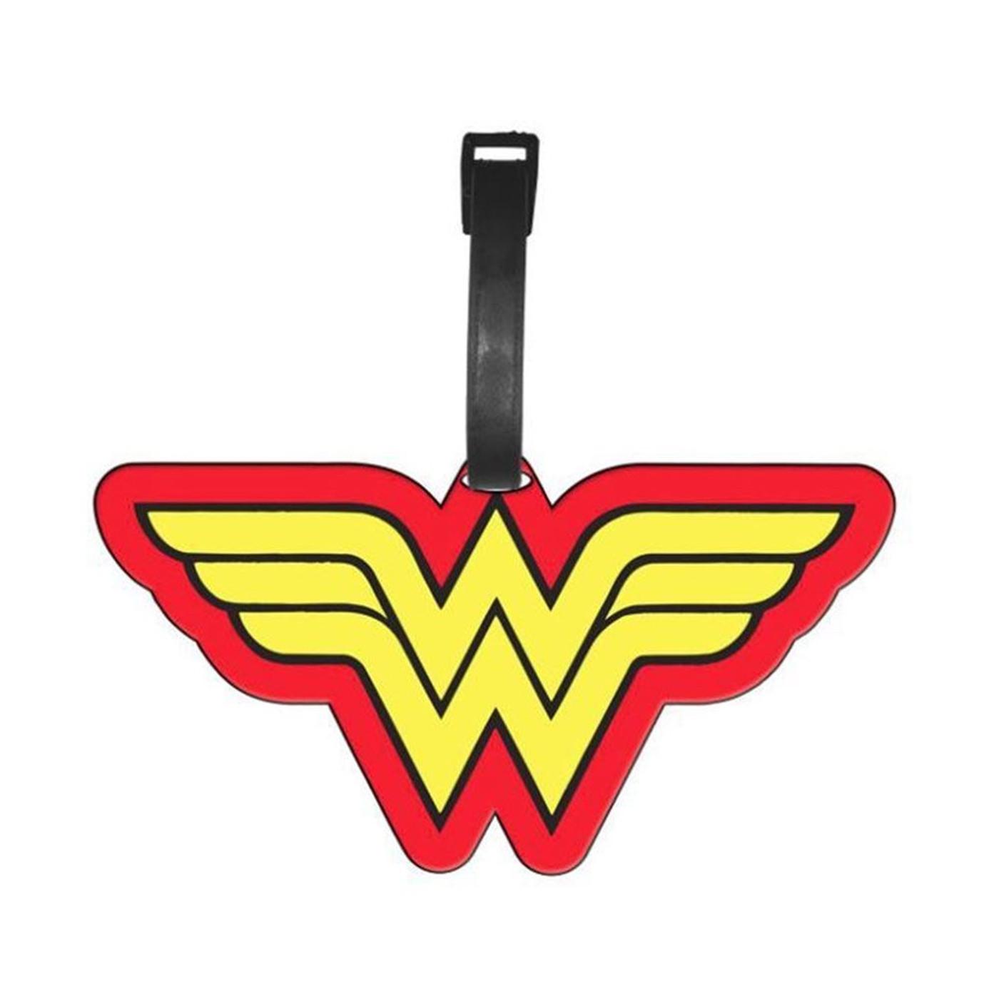Wonder Woman Symbol Luggage Tag